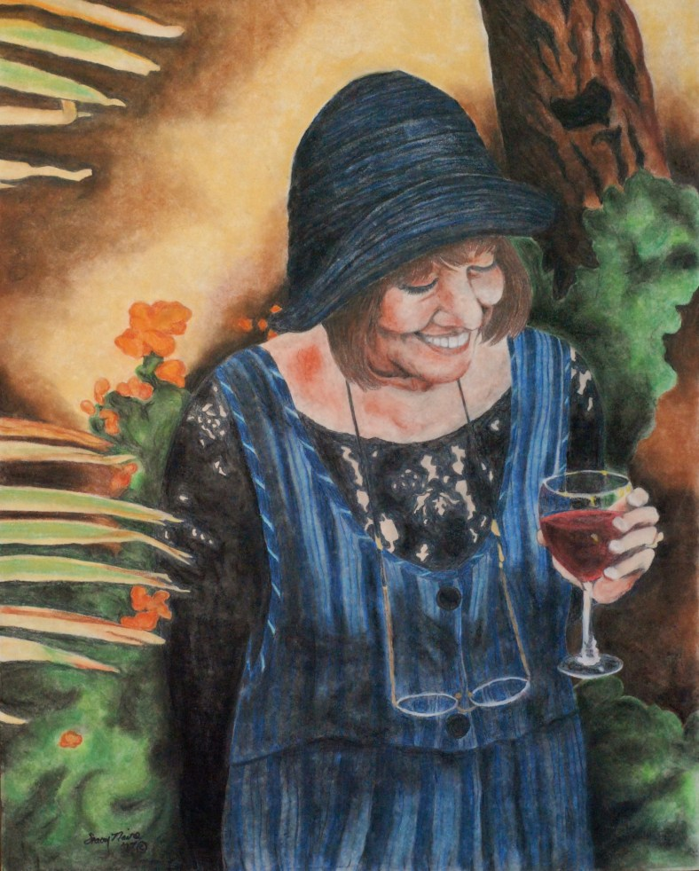 A portrait of my friend's deceased mother.  Reference was a small photo.  2007.