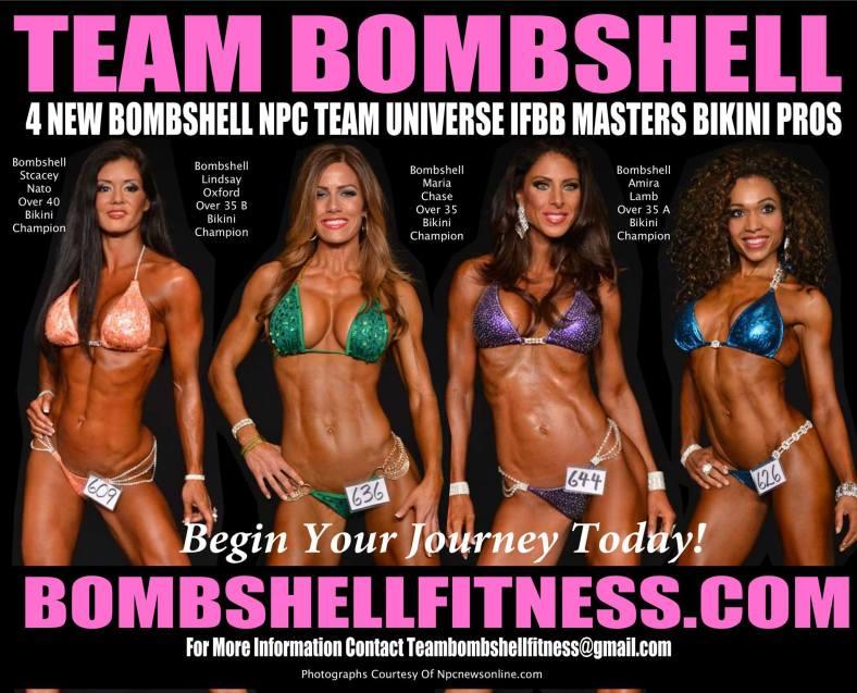 Team Bombshell New IFBB Bikini Pros!