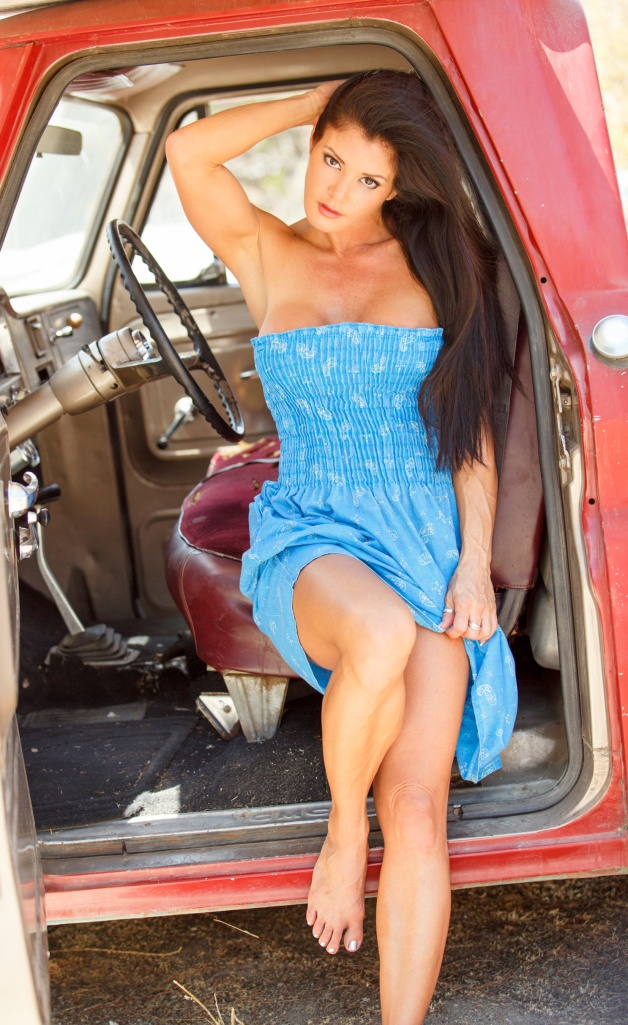 Red Pickup and Sundress