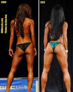 2009 Nationals in the pic on left, 2012 IFBB North American on the right.