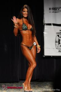 This was from IFBB North American in Cleveland, Ohio in 2012.  I hadn't seen this image until now!  That was an amazing contest for me, in which I took a First Place Finish in Open Bikini C, beating out 27 other young ladies.  I was 45 there!