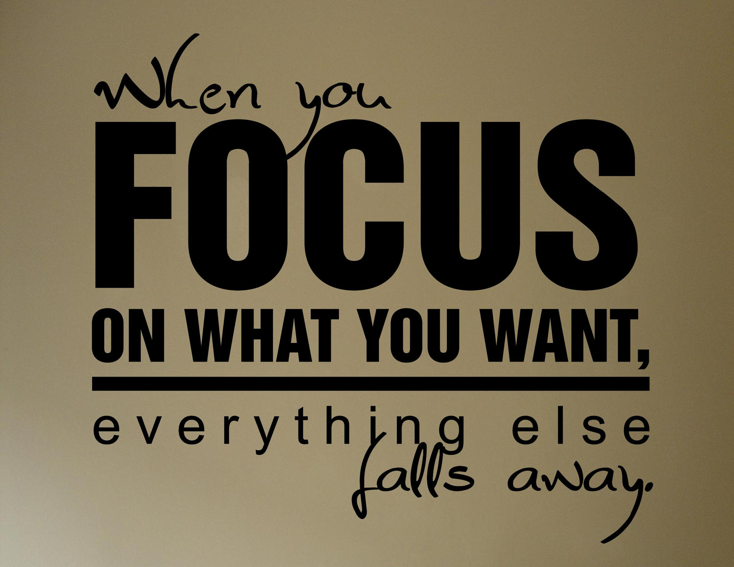 Maintaining Focus In The Midst Of Chaos