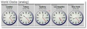 World TimeZones (analog)