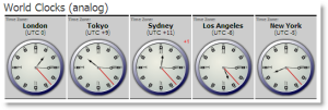 World TimeZones (analog)