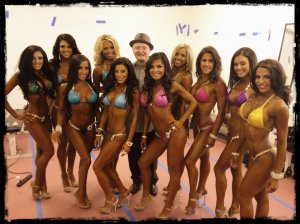 Pro Bikini gals backstage