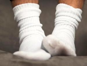 white sock feet