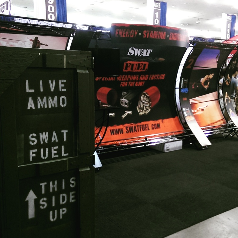 The SWAT Fuel booth at the San Jose Fit Expo