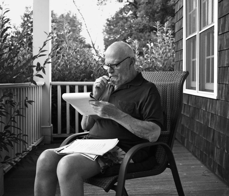 Dr. Sacks on porch