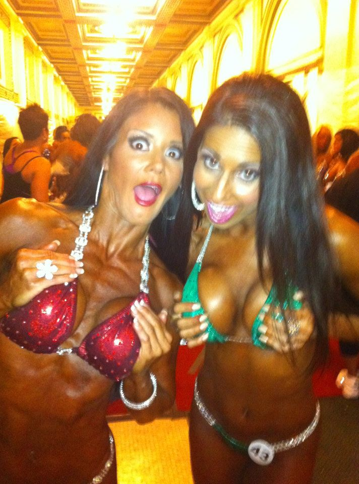 Being silly backstage with Nicole Moneer