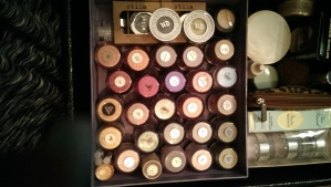 My collection of MAC full sized loose pigments
