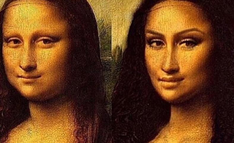 before-and-after-contouring Mona Lisa