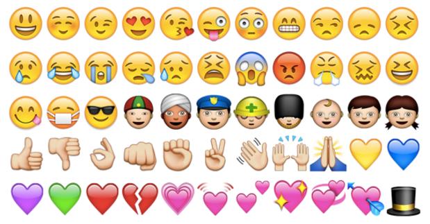 string of emojis
